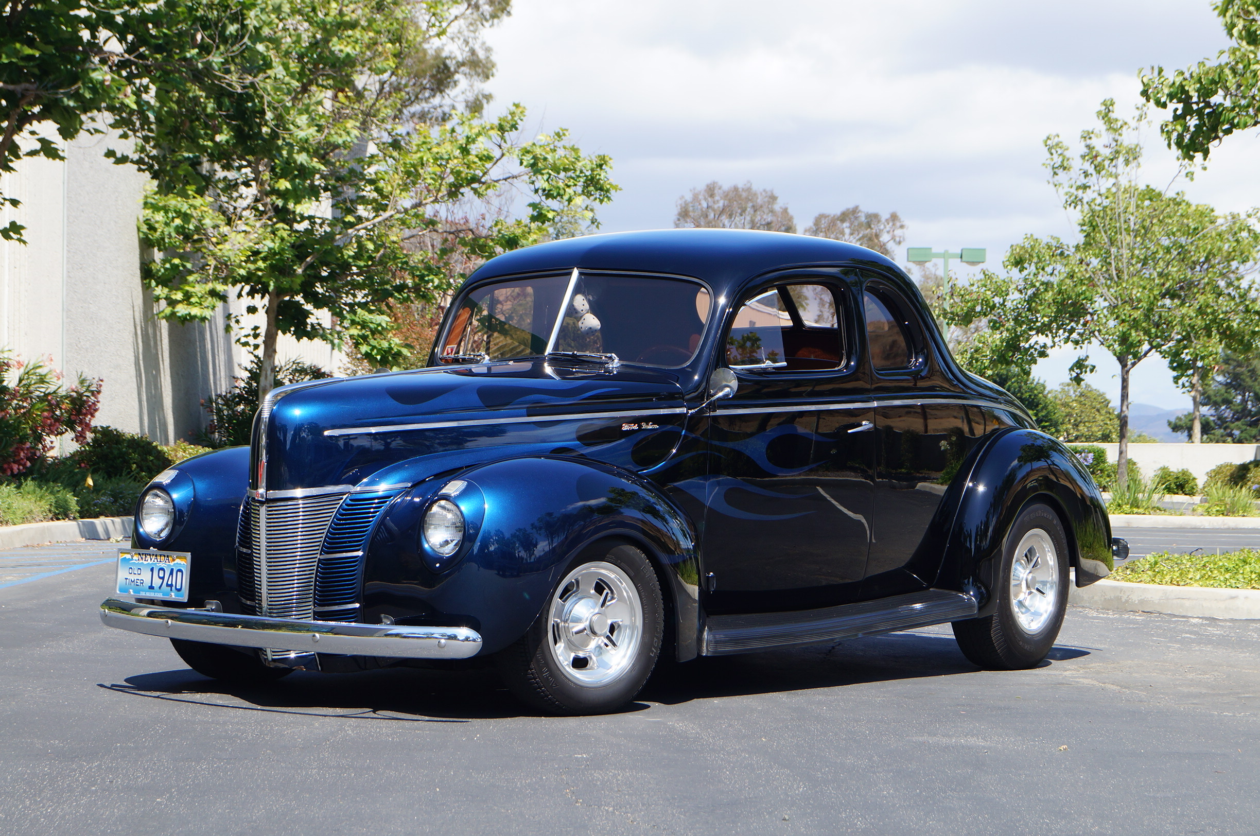 Blue 1940 Ford Custom Coupe