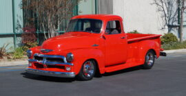 Red 1955 Chevrolet 3100 Custom