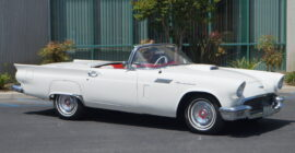 White 1957 Ford Thunderbird - Sold at Johnston Motorsports