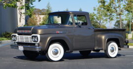 Gunmetal Gray 1959 Ford F100 - Sold at Johnston Motorsports