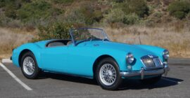 Teal baby blue 1959 MGA Sold at Johnston Motorsports