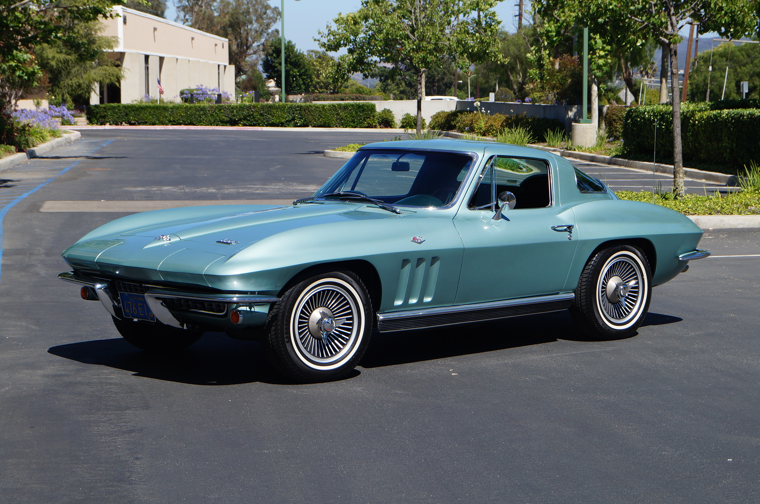 Green 1966 Chevrolet Corvette Coupe