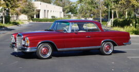 Red 1967 Mercedes Benz 250 SE Coupe