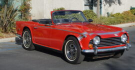 Red 1968 Triumph TR250 - Sold at Johnston Motorsports