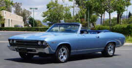 Light Blue 1969 Chevrolet Chevelle Malibu Convertible