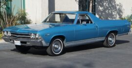 Blue 1969 Chevy El Camino - Sold at Johnston Motorsports