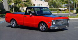 Red and Black 1972 Chevrolet C10 Truck - Sold at Johnston Motorsports