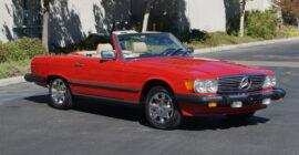 Red 1986 Mercedes 560SL Roadster - Sold at Johnston Motorsports