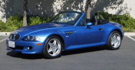 Bright Blue 2000 BMW M Roadster