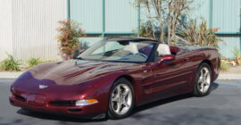 Burgundy 2003 Chevrolet Corvette Convertible